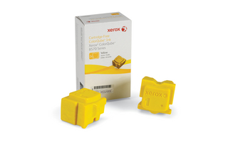 Phaser 8570 COLORQUBE - 108R00928 YELLOW ORIGINAL 2 STICKS FOR 8570 MFP XEROX PHASER
