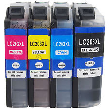 BROTHER  LC203XL LC203 XL 4 PACK COMBO GENERIC For MFC-J4620DW MFC-J5520DW MFC-J5620DW MFC-J57