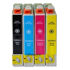 Epson  T220XL120 T220XL220 T220XL320 T220XL420 COMBO 4 PACK High Yield COMPATIBLE Inkjet Cartr