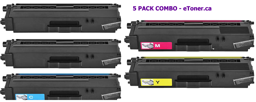 BROTHER    TN-336BK(2) TN-336C TN-336M TN-336Y 5 PACK COMBO COMPATIBLE HIGH YIELD Toner Cartri